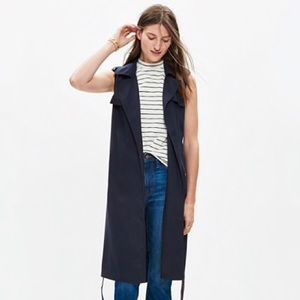 Madewell Sleeveless Trench Jacket